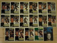 1991-92 Pinnacle French VANCOUVER CANUCKS Team Set - 17 Cards - BURE LINDEN