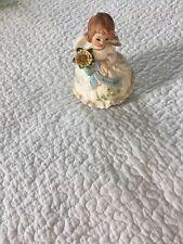 Vintage Josef Figurine November Angel Music Box