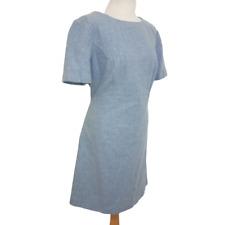 HOBBS London Pencil Dress UK 16 Fitted Light Blue Knee Length Office Formal £159