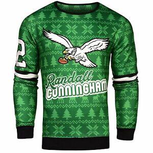NFL Men's Philadelphia Eagles Randall Cunningham #12 Retired Player Ugly Sweater
