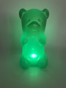 "Squeezable Cordless 7"" Gummi Bear Night Light - Battery Gummy Portable Soft Nice"
