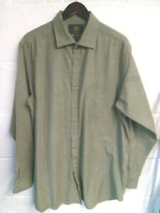 "Viyella olive green shirt 17.5/46""-48""chest"
