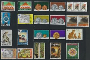 H 209 British Guiana & Guyana / A Small Collection Early & Modern Used