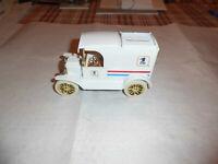 "ERTL #9532  ""US MAIL REVERSED EAGLE"" 1913 Model T Van Gold Wheels 1:25 MIB"