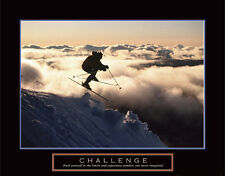 Challenge EXTREME SKIING Motivational Inspirational Sports Action POSTER Print
