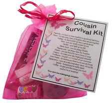 Cousin Survival Kit - unique keepsake for your female cousin. Fun novelty gift.