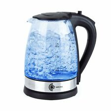 Wasserkocher Glas Edelstahl BPA frei schnurlos 1,7L 2000 Watt LED Beleuchtung