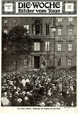 AUGUST 1914 In ernster Stunde Ansprache des Kaisers ans Volk Bilddokument 1914