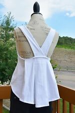 Free People deconstructed style swing cut top, size XS, white