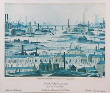 L S Lowry Print from Mainstone Publications - Industrial Landscape 1950