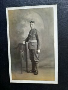 Portrait of Young Soldier - Ronald's Studio, Sunderland Real Photo Postcard