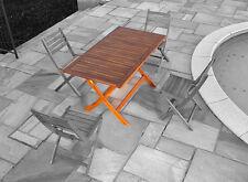 Tavolo da giardino in legno massiccio di acacia 135x75cm H74cm, pieghevole