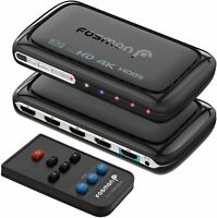Fosmon 4-Port HDMI Switch 4K with Picture-In-Picture PIP, 4x1 Auto Switcher
