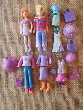 "Polly Pocket Lot ""Colors of the Rainbow"" Purple Girl & Boy Outfits Clothing Q95"