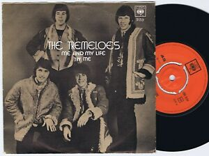 """THE TREMELOES Me And My Life Norwegian 7"""" 45PS 1970."""