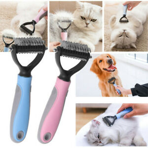Pet Grooming Tools Dematting Comb 2 Sided Undercoat Rake for Dogs and Cats with