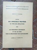 Hauts-De-Seine Lista Delle Monumenti Storici Ministero Sterzo Del Heritage