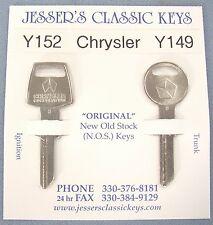 PENTASTAR Original Key Set Chrysler Plymouth Dodge MOPAR 1968 1969 1970 1971
