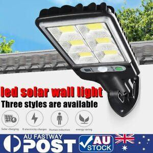 600W LED Solar Wall Light Motion Sensor Outdoor Garden Security Street Lamp AU