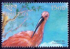 Scarlet Ibis (Eudocimus ruber), Birds, Bhutan 1999 MNH - G69