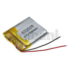 532528, Internal Lithium Polymer Battery 3.7V 300mAh 53x25x28mm