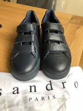 Sandro Velcro Scarpe da ginnastica Taglia EU 38/UK 5 in (ca. 12.70 cm) Blu Scuro In Pelle Costo £ 209