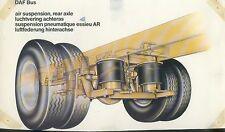 DAF Bus air suspension rear axle Prospekt 1 Bl. 1975 brochure LKWs Lastwagen car