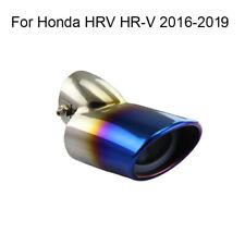 Car Chrome Exhaust Muffler Tail Pipe Tip Tailpipe For Honda HR-V HRV 2016-2019
