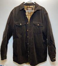 VTG Levi's Levi Strauss Corduroy Shirt Jacket Fleece Lined Faded Brown M