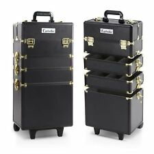 NEW Embellir Beauty Case Trolley Cosmetic Suitcase On Wheels Adjustable Dividers