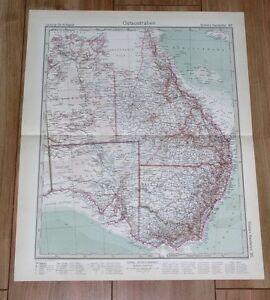 1932 ORIGINAL VINTAGE MAP EASTERN AUSTRALIA MELBOURNE SYDNEY BRISBANE ADELAIDE