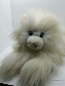 "1986 Dakin Soft Classics White Cat Plush! 15"" Stuffed Toy Lovey"