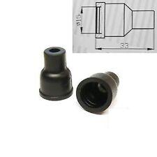 4x HT Silicona PVC aisladores para Tapa del distribuidor - 7mm 8mm Liso Negro