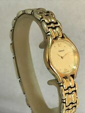 Tissot Ladies Analogue Cream Dial Gold Tone Stainless Steel Bracelet Watch E423K
