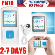 Usb Color 177pm10 Portable Ecg Ekg Machine Heart Beat Monitorbluetooth Fda