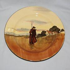 RARE Royal Doulton seriesware PLATE Farmworkers Silhouette Shepherd D3356 #2