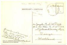 NED INDIE DUTCH INDIES 1949=VELDPOST 7 DEC DIV = NAAR TEUGE