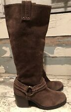Jessica Simpson Brown Suede Tall Riding Boots Women's Size 7.5B