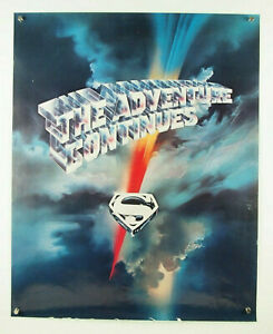rare Superman II 2 Adventure Continues 1981 promo movie poster (trimmed?) 23x29""