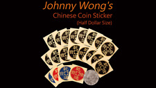 Johnny Wong's Chinese Coin Sticker 20 pcs (Half Dollar Size) from Murphy's Magic