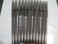 12 x BLACK Bic Round Stic Ball Pen 1.0mm Medium GSM11 20119 Free Post