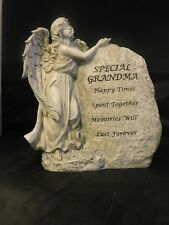 "BNIB  "" GRANDMA "" LARGE STANDING ANGEL WITH ROCK GRAVESIDE ORNAMENT"
