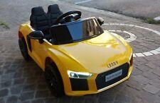 AUDI R8 SPYDER 12V Gialla Macchina Elettrica per Bambini Auto Mini Car 2 Motori!
