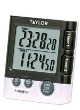 Taylor Precision Products Dual Event Timer/clock with Digital Display