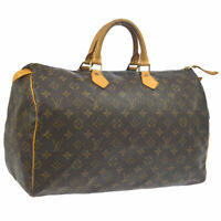 LOUIS VUITTON SPEEDY 40 HAND BAG PURSE MONOGRAM CANVAS M41522 MB0061 AK38557c