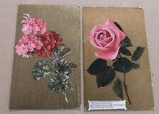 Antique Gold Floral Postcards Gather Ye Rosebuds While Ye May 1909 Lot 2
