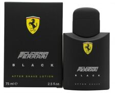 FERRARI SCUDERIA FERRARI BLACK AFTERSHAVE 75ML SPLASH - MEN'S FOR HIM. NEW