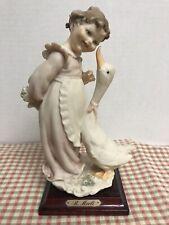 Vintage Giuseppe Armani Bruno Merli figurine 1983 Florence Girl with Goose