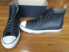 NEW Converse John Varvatos Mini Studded Hi Shoes Mens 12 Black Leather 151295C