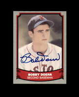 Bobby Doerr Hand Signed 1988 Pacific Baseball Legends Boston Red Sox Autograph